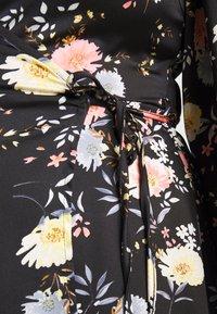 Glamorous Curve - LONG SLEEVE WRAP DRESS - Maksimekko - black - 4