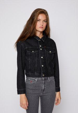 CROPPED JACKET - Denim jacket - denim black
