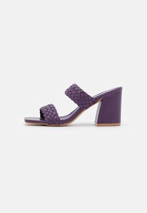 MARKIE - Heeled mules - purple