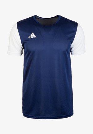 ESTRO 19 - Print T-shirt - dark blue/white