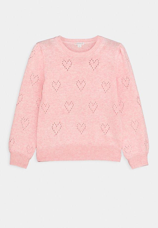 POINTELLE HEART POPOVER - Pullover - blossom
