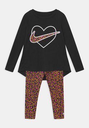LEOPARD HEART SET - Leggings - chutney