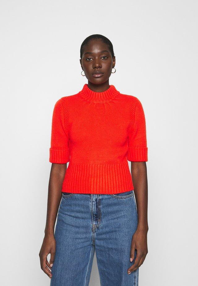 SHORT SLEEVE SWEATER - Trui - tomato