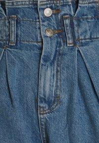 Topshop - NEW PAPERBAG - Shorts di jeans - blue denim - 2