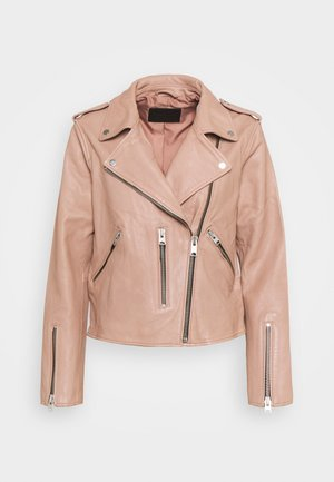FERN BIKER - Leather jacket - cameo pink
