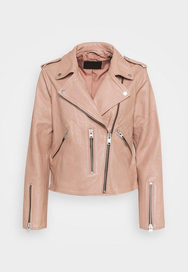 FERN BIKER - Veste en cuir - cameo pink