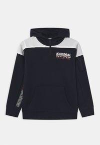 Kaporal - COLOURBLOCK LOGO HOODIE HALF ZIP - Mikina - navy - 0