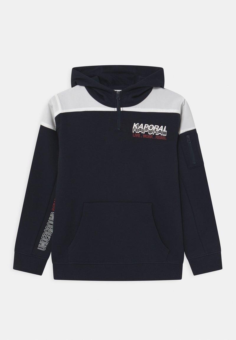 Kaporal - COLOURBLOCK LOGO HOODIE HALF ZIP - Mikina - navy