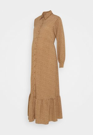 SHIRT DRESS MATERNITY - Maxi dress - rust/cream