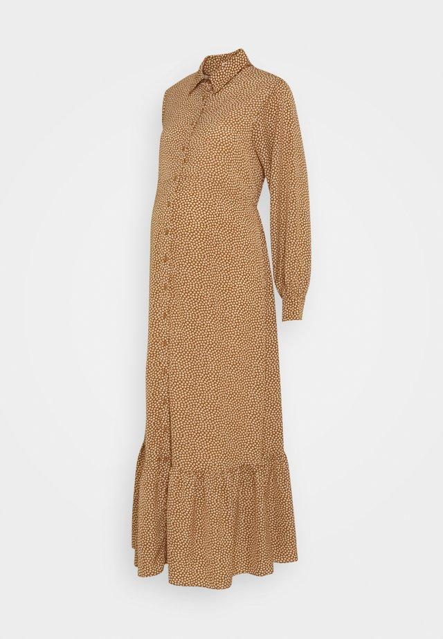 SHIRT DRESS MATERNITY - Długa sukienka - rust/cream