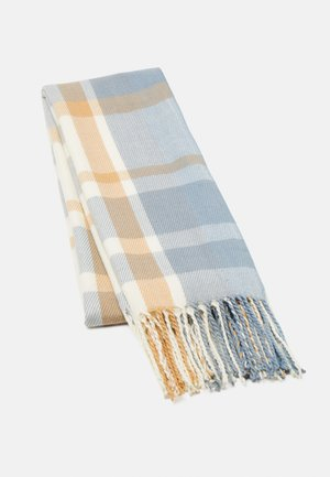 Scarf - blue/camel/off-white