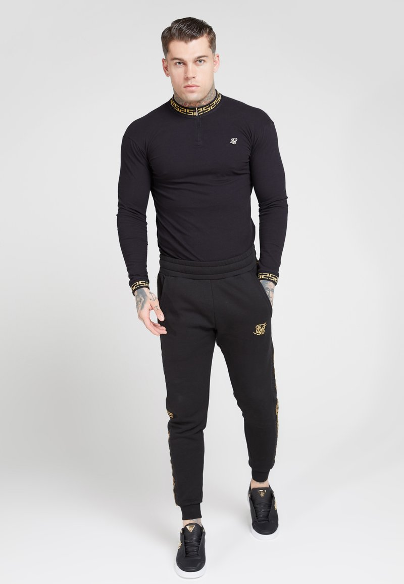 SIKSILK - LONG SLEEVE CHAIN  - Long sleeved top - black/gold
