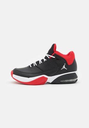MAX AURA 3 UNISEX - Basketball shoes - black/white/university red