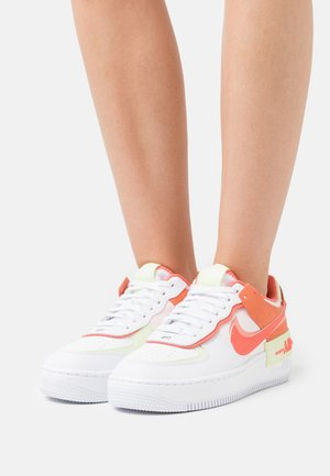 AIR FORCE 1 SHADOW - Trainers - white/magic ember/crimson bliss/lime ice/light soft pink/black