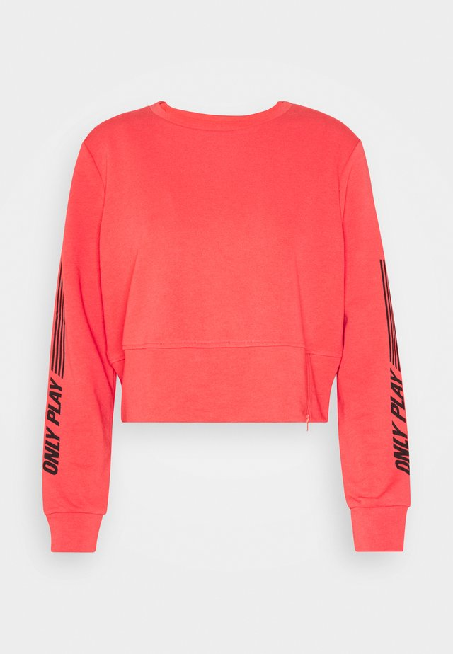ONPSHELLY ZIP - Sweatshirt - coral/black