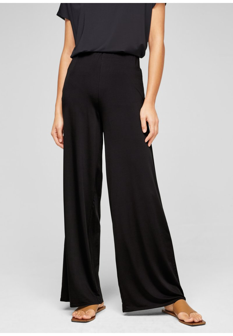s.Oliver BLACK LABEL - Trousers - true black