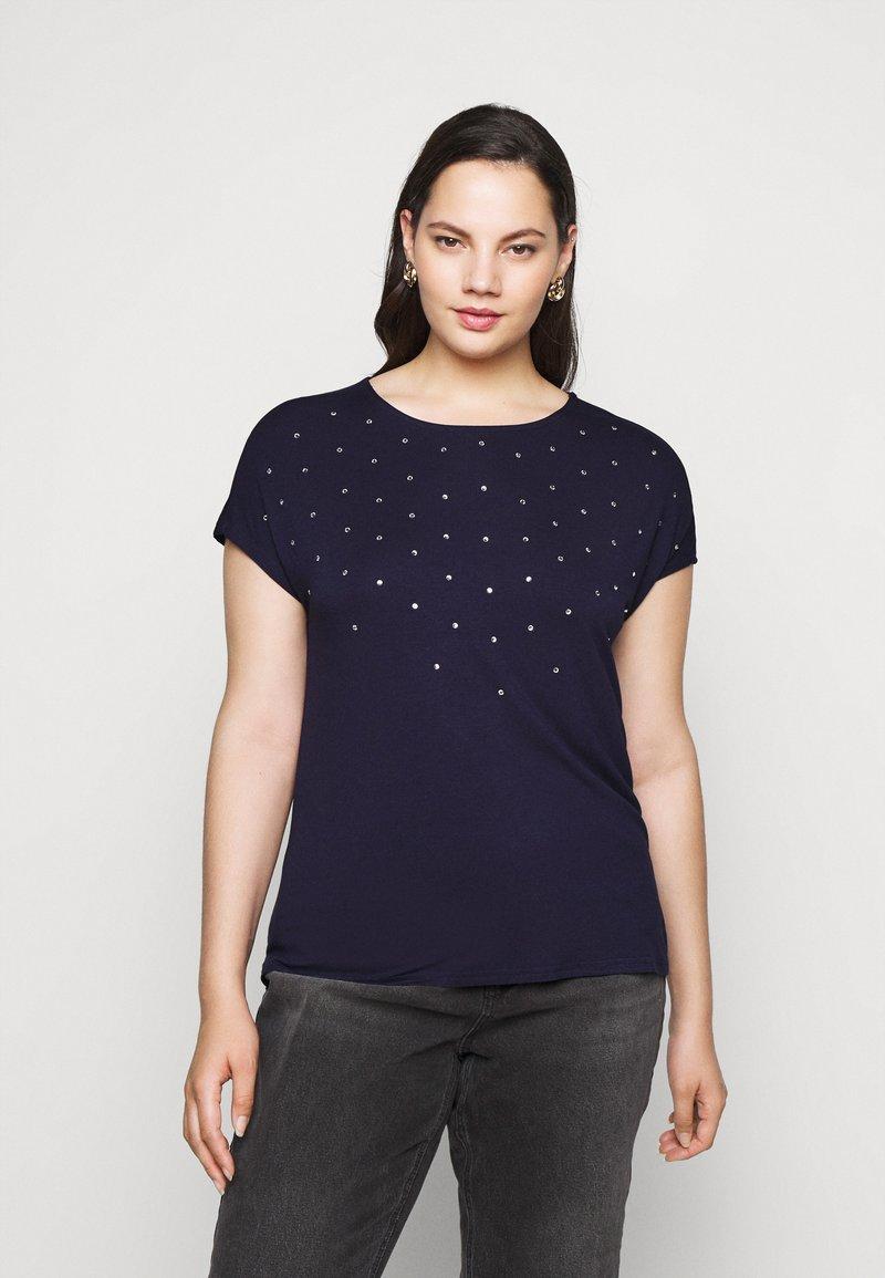 Anna Field Curvy - Print T-shirt - evening blue