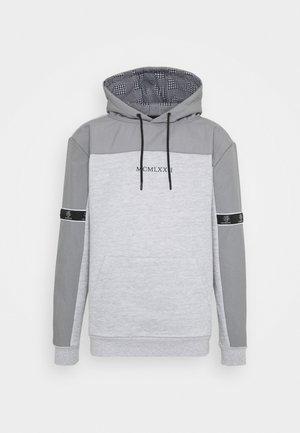 THAMES - Mikina - light grey marl/light grey/jet black