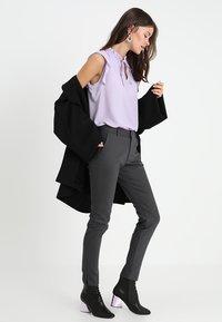 Mos Mosh - ABBEY NIGHT PANT - Trousers - grey - 1