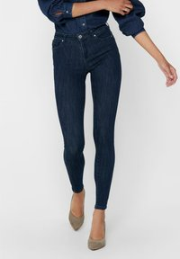 ONLY - SKINNY FIT ONLPOWER LIFE MID PUSH UP - Jeans Skinny Fit - dark blue denim - 0
