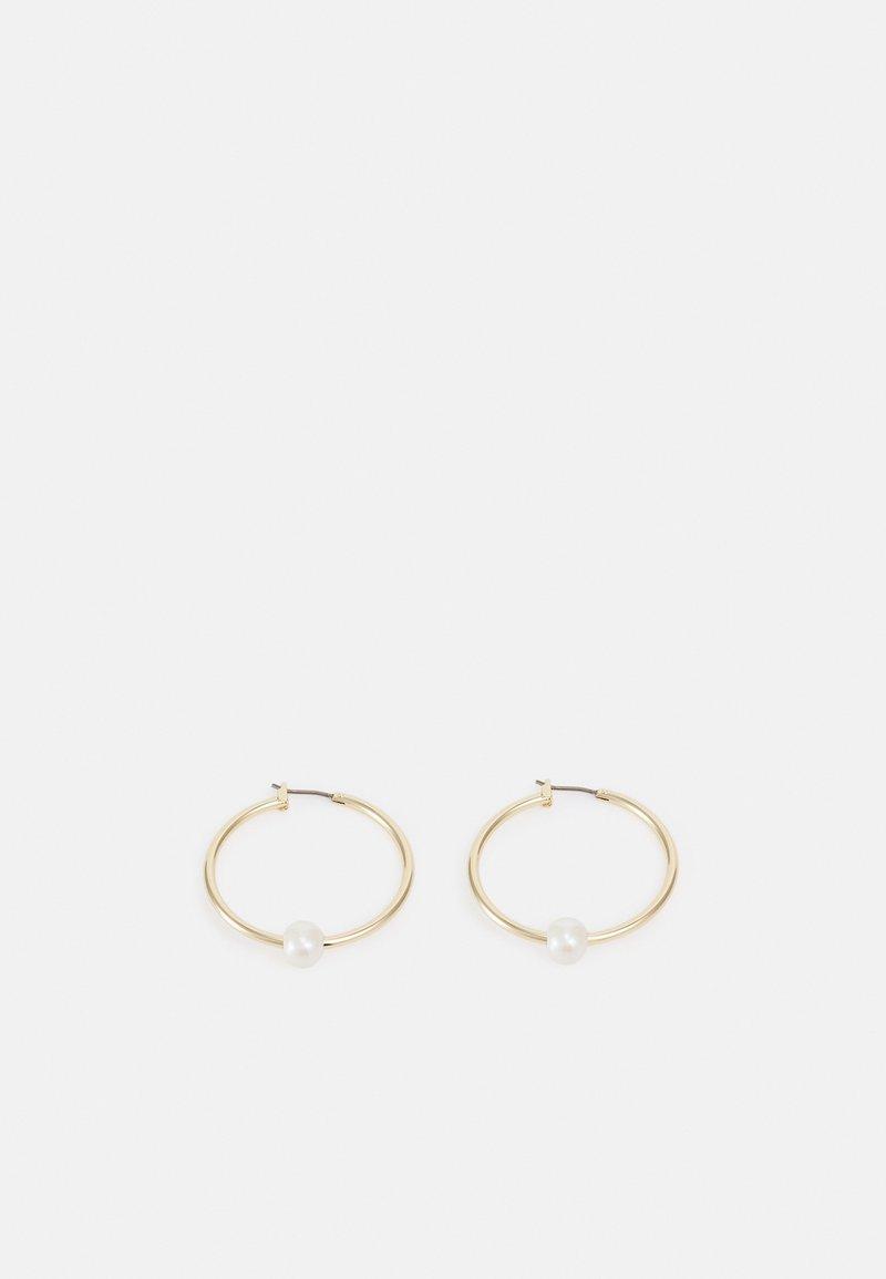 Lauren Ralph Lauren - HOOP - Earrings - gold-coloured/white