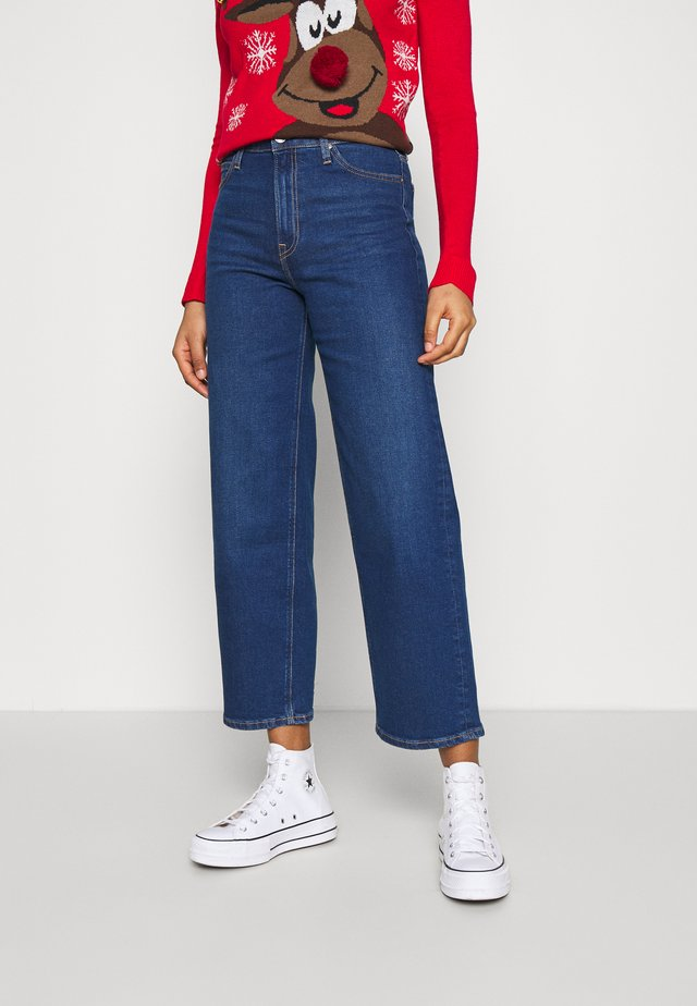 WIDE LEG - Jeans baggy - dark dora