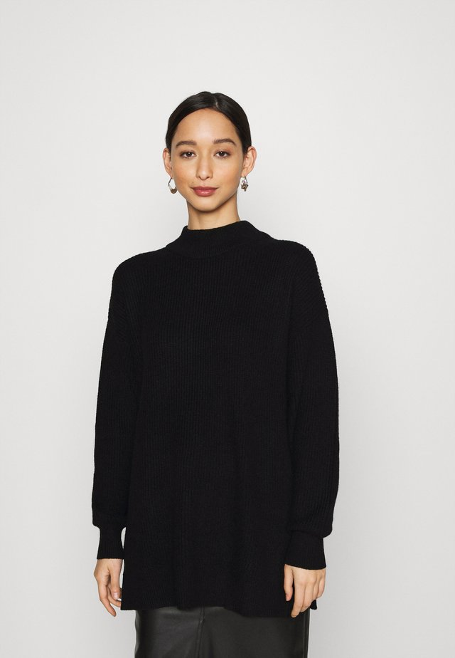 SIDE SLIT - Jumper - black