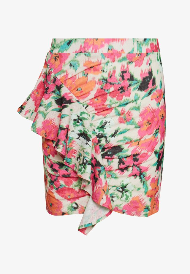 DRAPED FRILL SKIRT - Minihame - multi-coloured