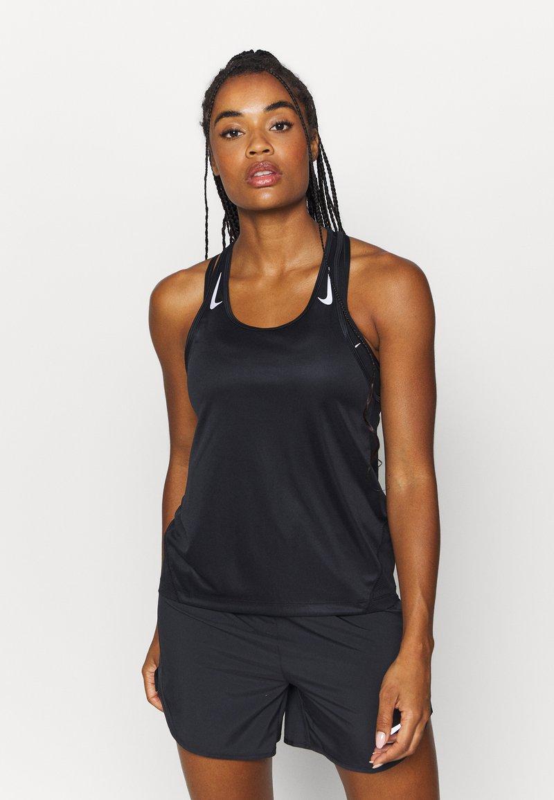 Nike Performance - MILER TANK RACER - Funktionstrøjer - black