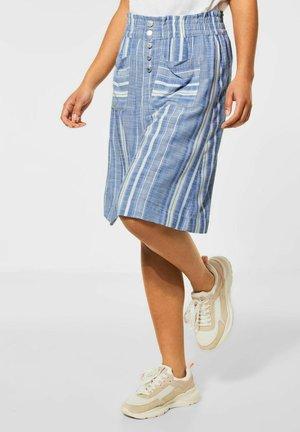 MIT STREIFEN PRINT - A-line skirt - blau