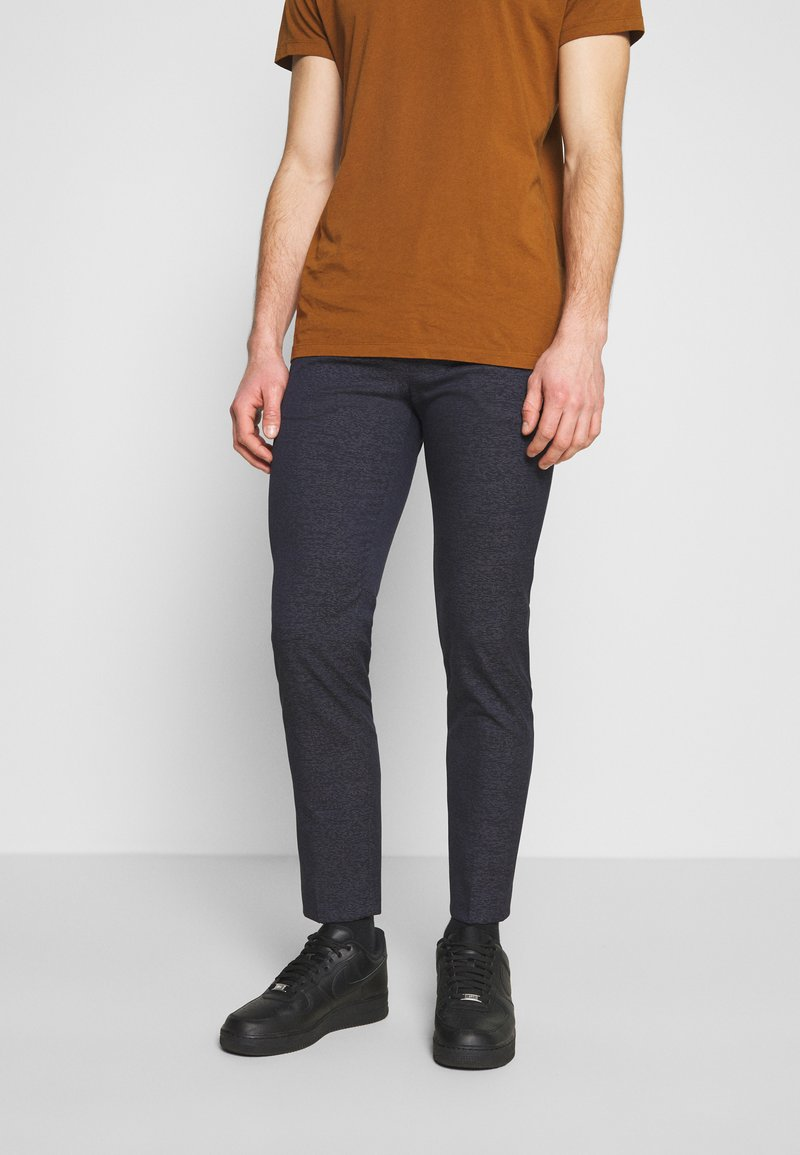 Calvin Klein Tailored - STRETCH PANTS - Trousers - blue