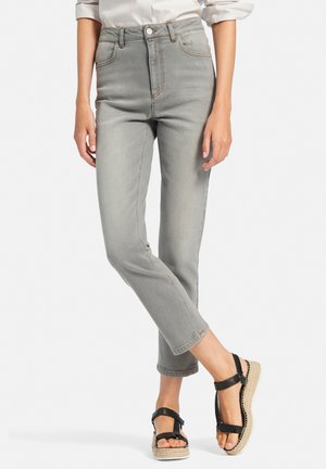 Slim fit jeans - hellgrau denim
