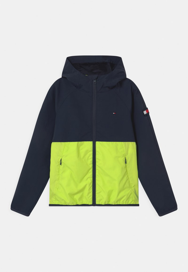 Tommy Hilfiger - COLORBLOCK  - Training jacket - twilight navy/ faded lime
