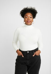 New Look Curves - ROLL NECK - Strikkegenser - cream - 0