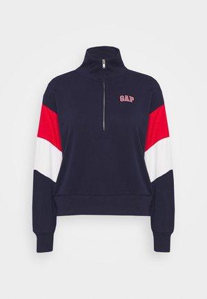 USA HALF ZIP - Mikina - navy uniform