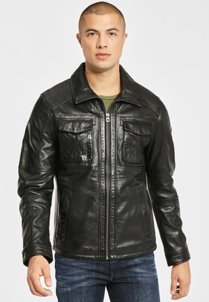 LANNY NSLV - Leather jacket - black