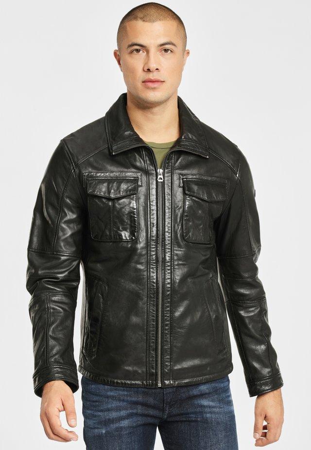 LANNY NSLV - Veste en cuir - black