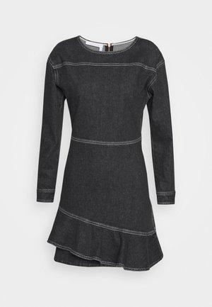Denimové šaty - black