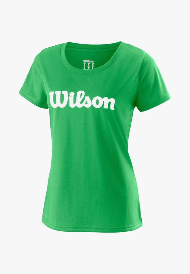 SCRIPT TECH - Print T-shirt - green
