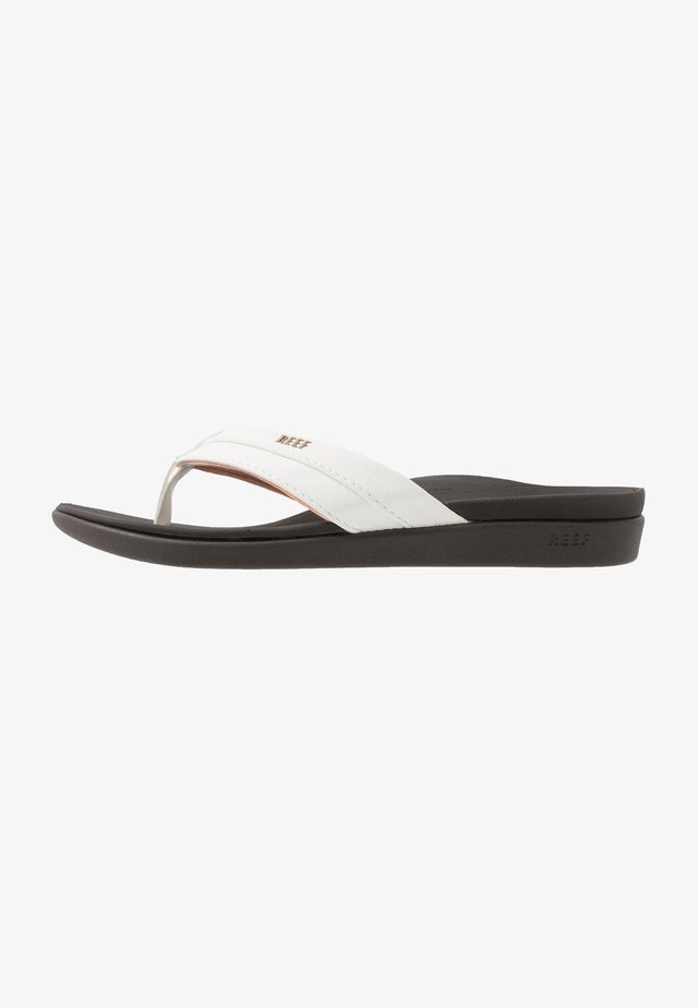 ORTHO BOUNCE COAST - Flip Flops - brown/white