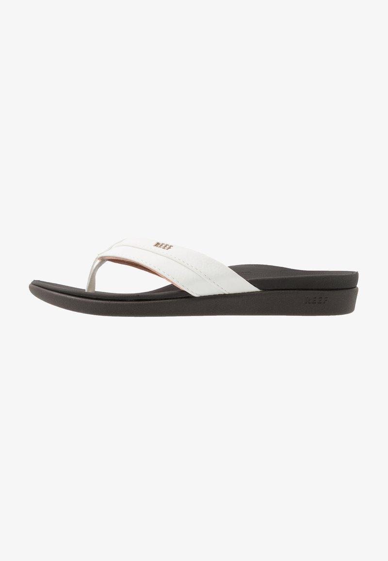 Reef - ORTHO BOUNCE COAST - Sandály s odděleným palcem - brown/white
