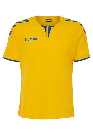 CORE - Print T-shirt - sports yellow/true blue