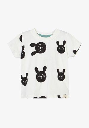 BUNNY PRINT BABY - Print T-shirt - white/black