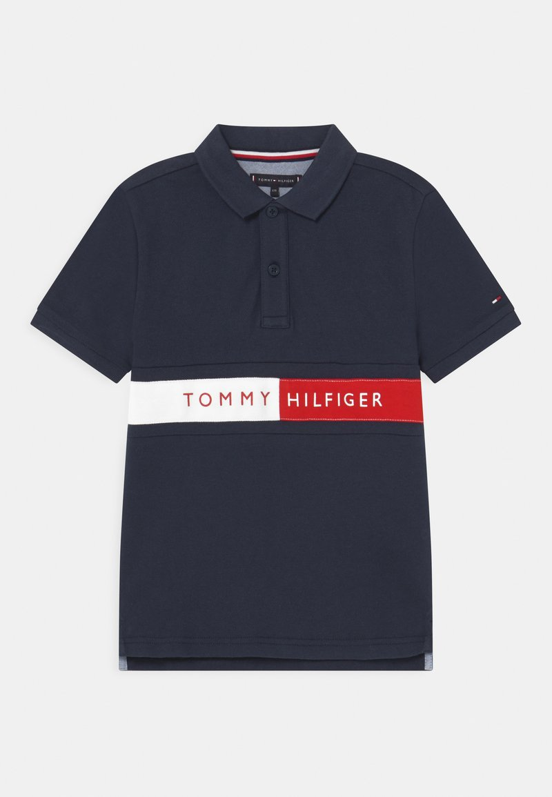 Tommy Hilfiger - FLAG - Poloshirts - twilight navy