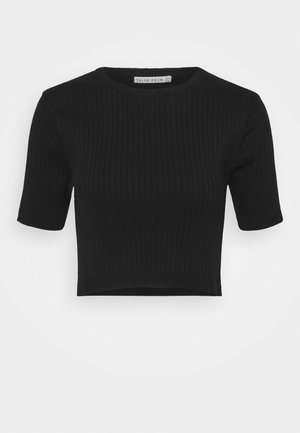 DUNES CROP TEE - Jumper - black