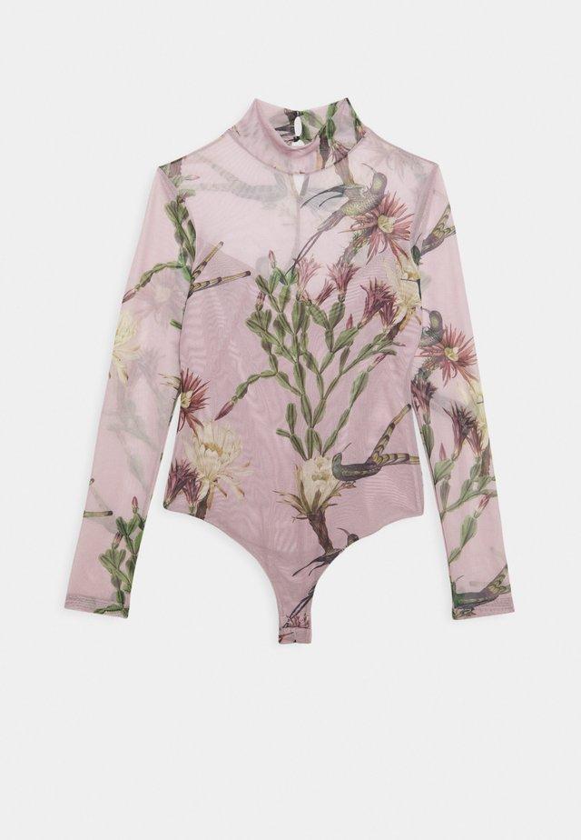 NOLINA ELIA BODYSUIT - Long sleeved top - plaster pink