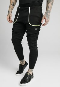 SIKSILK - LEGACY FADE TRACK PANTS - Tracksuit bottoms - black - 0