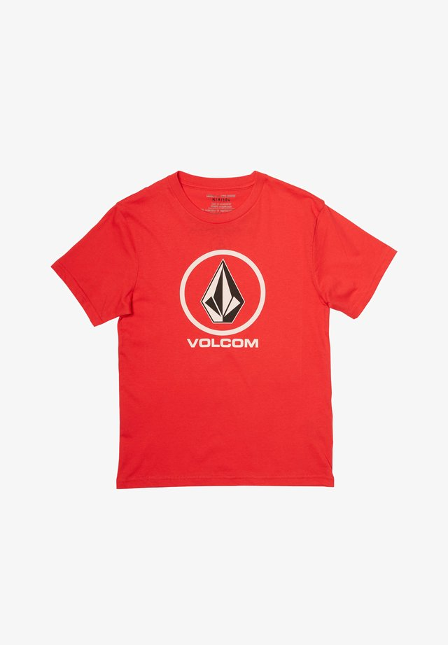 CRISP STONE - Print T-shirt - fiery_red