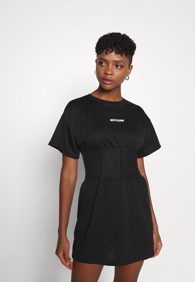 ESSENTIAL CORSET DRESS - Korte jurk - blac