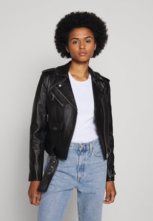 CLASSIC MOTO - Leather jacket - black
